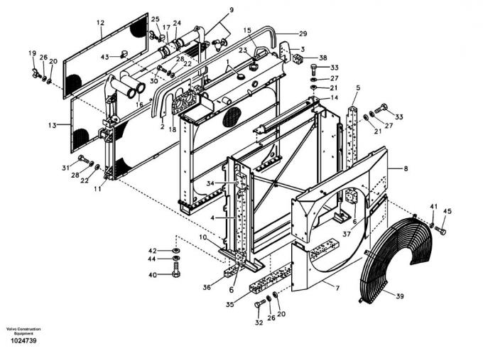 Voe14514357 14514357 Ec240b Ec290b Oil Cooler Radiator For Volvo