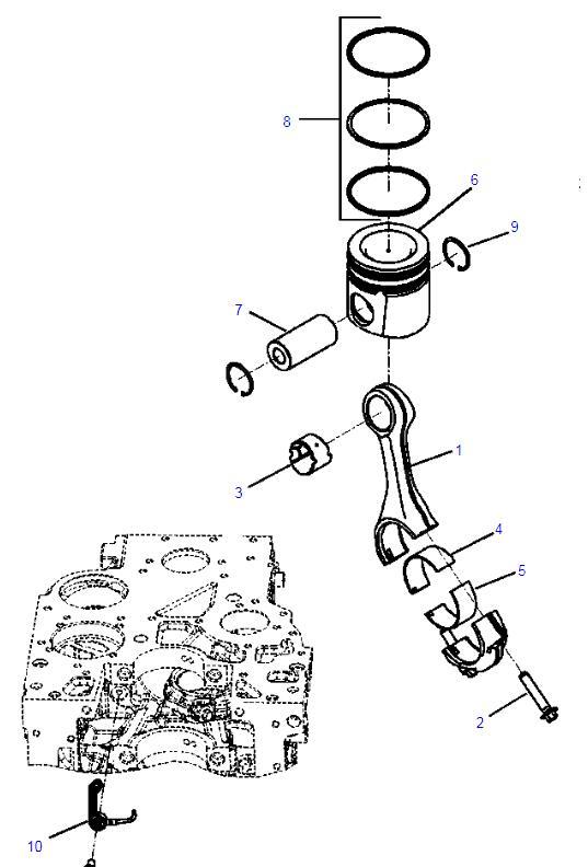 6754 31 2010 6754 31 2111 4955251 Excavator Engine Parts For Pc200 8