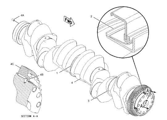 221 9360 C15 Excavator Engine Parts Crankshaft For Cat 365c 374d