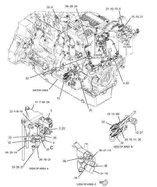 274 6719 C9 C11 C15 C18 Engine Pressure Sensor Applied To