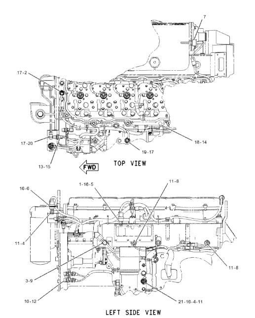 161 1704 C9 C18 Engine Pressure Sensor Applied To Cat