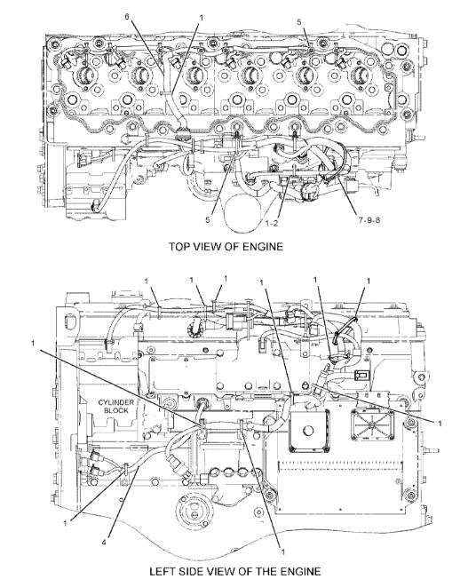198-2713  Caterpillar Excavator Parts C7 Engine Wiring Harness Applied To CAT 324D 325D 329D 0