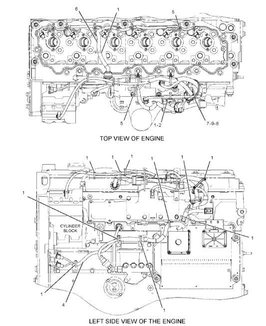 E325d 325d 329d Caterpillar Engine Excavator Wiring