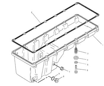 7c8296 C12 Oil Pan Isolator Excavator Engine Parts For Cat 345b 3176 3196 C 10 C